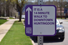 Walk Huntingdon Sign